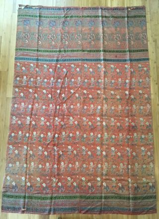 Antique Chinese Silk Hundred Boys Panel