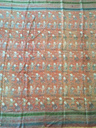 Antique Chinese Silk Hundred Boys Panel 2