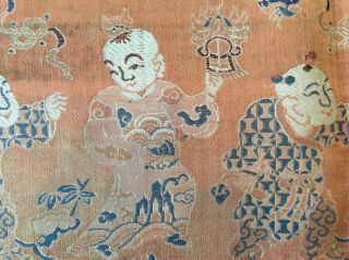 Antique Chinese Silk Hundred Boys Panel 7