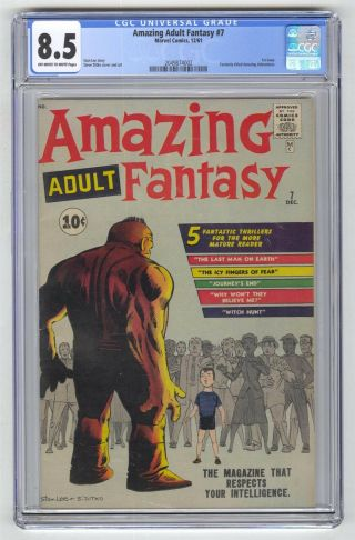 Adult Fantasy 7 Cgc 8.  5 Marvel Key 1st Issue Silver Age 10c