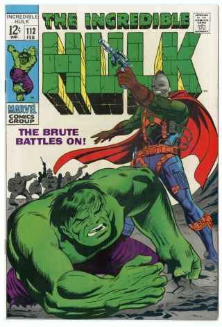 Hulk 112 Nm 9.  4 White Pages The Brute Battles On Marvel 1969