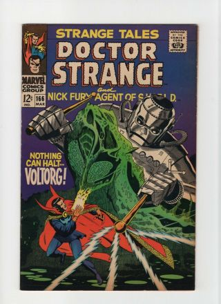 Strange Tales 166 Nm - 9.  2 Marvel Comic Doctor Strange Nick Fury 12c
