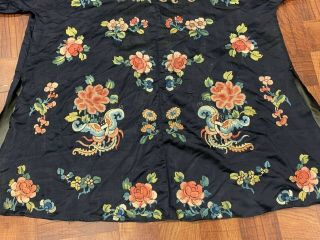 Antique Chinese Qing Dynasty 19th Century Embroidery Silk Robe 3