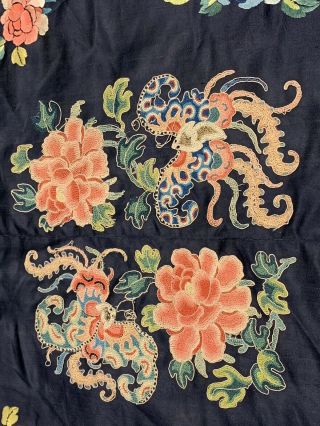 Antique Chinese Qing Dynasty 19th Century Embroidery Silk Robe 4