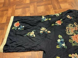 Antique Chinese Qing Dynasty 19th Century Embroidery Silk Robe 8