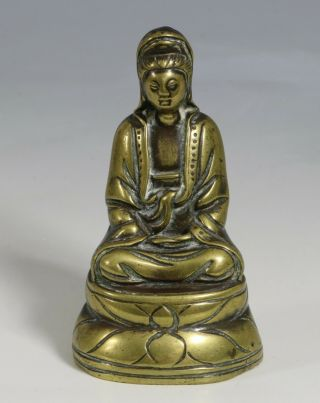 A Fine Chinese Bronze Figure Of Guanyin Ming Qing 17/18thc