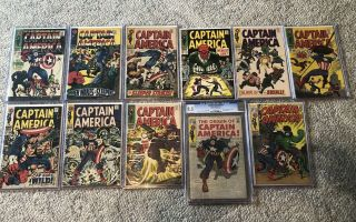 Captain America 100 Through 110 All Are Very Solid Books.  109 Is Gcg 8.  5