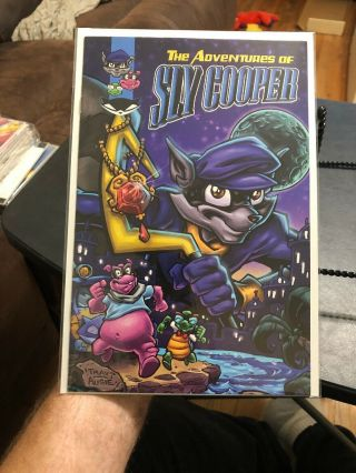 The Adventures Of Sly Cooper Rare Comic Book Ps2 Playstation Sony Nm/mint