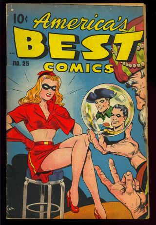 America's Best Comics 25 Miss Masque Good Girl Schomburg Cover 1948 Vg,