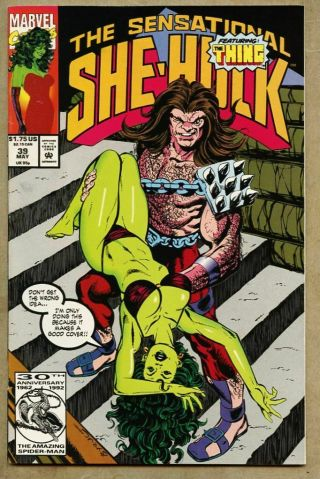 Sensational She - Hulk 39 - 1992 Nm - 9.  2 She Hulk John Byrne The Thing