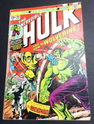 Incredible Hulk 181 1st Appearance Wolverine Bronze Age Marvel Comic Key No Mvs
