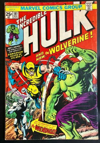 The Incredible Hulk 181 1st Wolverine Marvel Silver Age
