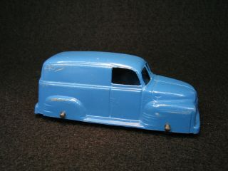 Vintage Diecast Tootsietoy Blue 1950 Chevrolet Panel Van Truck Toy Car Chevy 3 ""