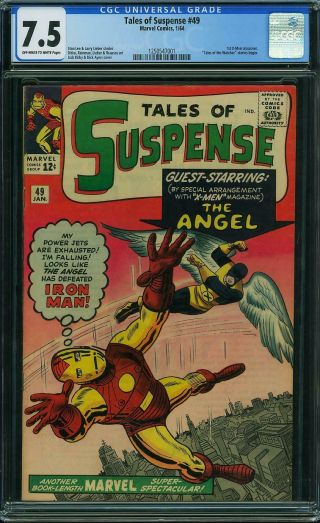 Tales Of Suspense 49 Cgc 7.  5 - 1964,  Iron Man Vs Angel Cover 1st X - Men Crossover