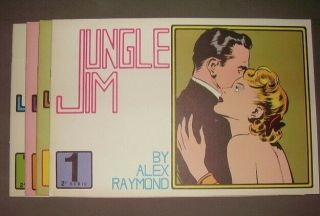 Jungle Jim By Alex Raymond Sundays Sc Volumes 1 - 3,  7 - 11 Series A - Club Anni Trenta