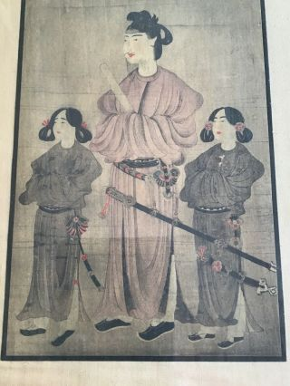 A Huge And Important Framed Chinese Qing Dynasty Painting On Silk,  Japanese