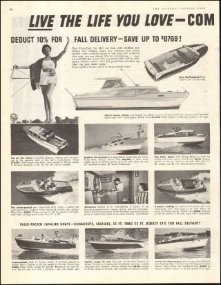 1956 Vintage Ad For `1957 Chris - Craft Boats`2 - Pgs Photo (091616)