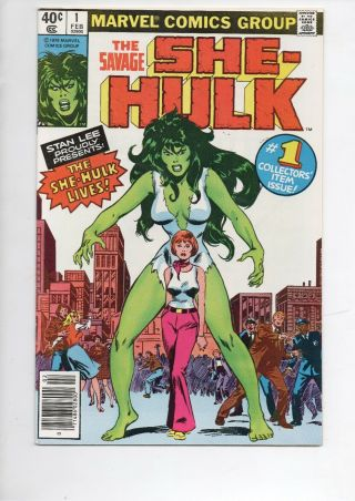 Savage She - Hulk 1 Marvel Comic Book From 1979 In Nm 9.  4