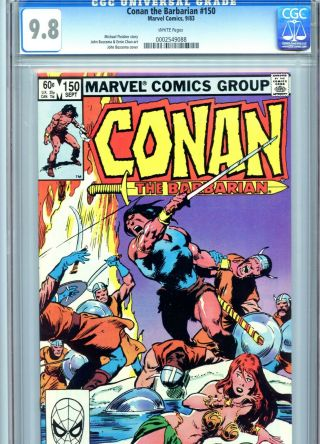 Conan The Barbarian 150 Cgc 9.  8 White Pages Marvel Comics 1983