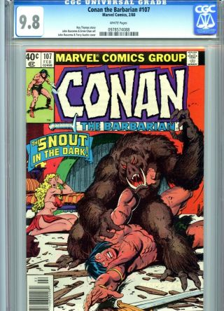 Conan The Barbarian 107 Cgc 9.  8 White Pages Marvel Comics 1980