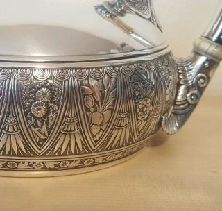 Gorham Sterling Silver Tea Set Victorian Aesthetic 1880s