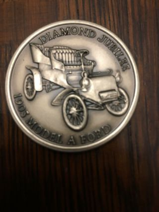 Vintage 1978 Ford Commemorative Coin: Diamond Jubilee 75th 1903 Model A Ford 4cm