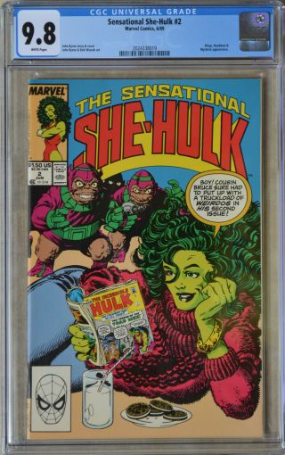 The Sensational She - Hulk 2 (june 1989 | Marvel) Cgc 9.  8 (nm/mt) White Pages
