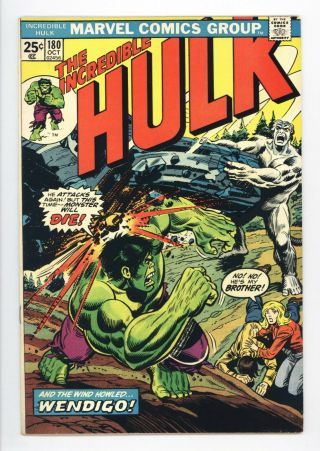 Incredible Hulk 180 Vol 1 Near Perfect 1st App Of Wolverine In Cameo