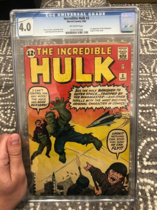 Incredible Hulk 3,  Cgc 4.  0,  Off - White Pages,  1st App Of The Ringmaster