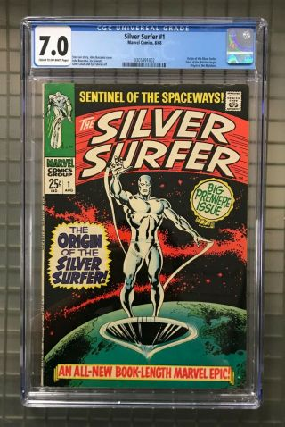 Silver Surfer 1 Marvel Comics 1968 Comic Book Cgc 7.  0 Origin Story The Watchers