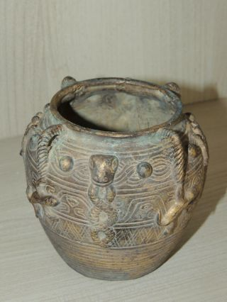 Antique Chinese bronze vase,  Ming dynasty 2