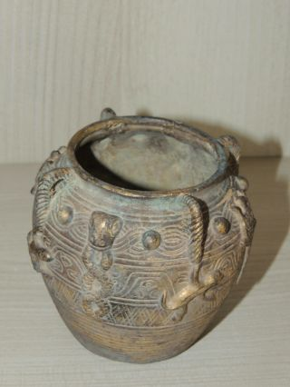Antique Chinese bronze vase,  Ming dynasty 3