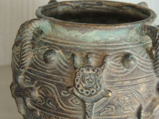 Antique Chinese bronze vase,  Ming dynasty 7