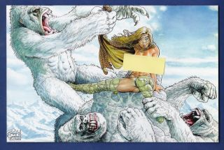 Cavewoman : Snow 3 Virgin Variant Cover 1/750 Basement 2011 Budd Root