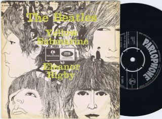 The Beatles Elanor Rigby B/w Yellow Submarine Norwegian 45ps 1966