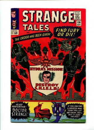 Strange Tales 136 Nm - 9.  2 Marvel Comic Doctor Strange Nick Fury