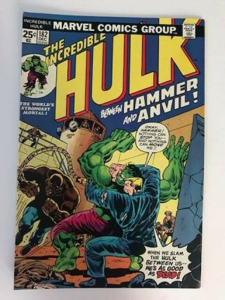 The Incredible Hulk 182 Vg Marvel Value Stamp Intact