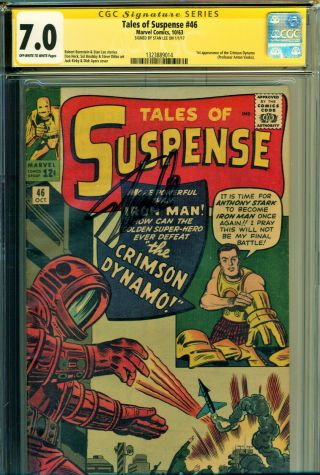 Tales Of Suspense 46 Cgc 7.  0 Ss Signed By Stan Lee 1st Crimson Dynamo Kirby