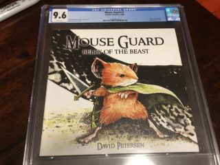 Mouse Guard 1 Belly Of The Beast First Print Cgc 9.  6 First Printing 1
