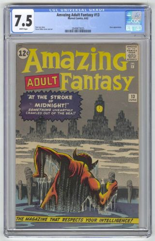 Adult Fantasy 13 Cgc 7.  5 Marvel Comic Lee Ditko Pre - Hero White Pages