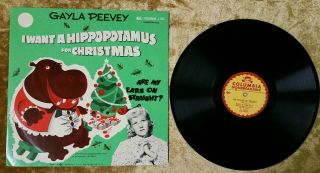 Gayla Peevey I Want A Hippopotamus For Christmas/are My Ears On.  Columbia J - 186