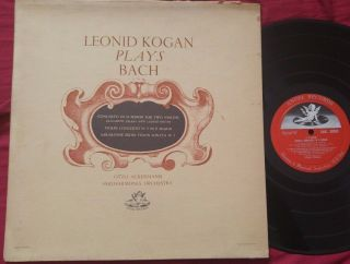 Leonid Kogan Plays Bach Violin Concertos / Sonata Ackermann Angel Uk Lp Dowel Nm