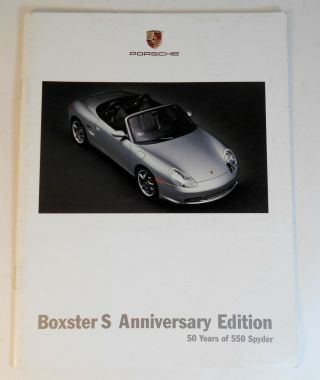 2004 Porsche Boxster S 50th Anniversary Edition Car Brochure