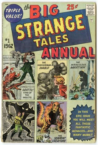 Strange Tales Annual 1 G/vg 3.  0 Ow/white Pages Marvel 1962