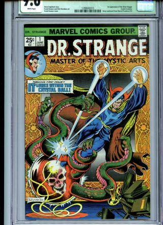 Doctor Strange 1 Cgc 9.  6 Qualified White Pages