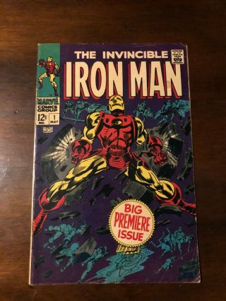 Iron Man 1 Gorgeous Cover - - Solid Copy— 5.  5 Fn -