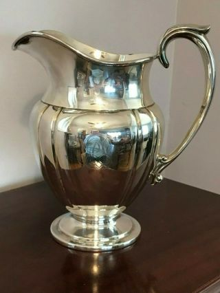 Vintage Lawrence B Smith L.  B.  S.  Co Silver Water Pitcher