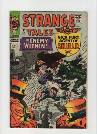 Strange Tales 147 Nm - 9.  2 Marvel Comic Doctor Strange Nick Fury 12c