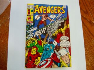 1970 Marvel Avengers 80 1st Appearance Red Wolf Mid - Grade