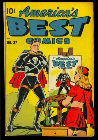 America's Best Comics 27 Miss Masque Infinity Cover Nedor 1948 Vg,